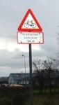Kreuzende Fahrräder